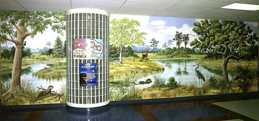 Above: Beautiful Cypress Trees In The Florida Everglades. This Lovely Mural  Graces The Walls In A Main Hallway Of Everglades Elementary School, ...