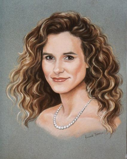Portrait in Pastel, Hand Painted Portrait, Mural Mural On The Wall, Inc.