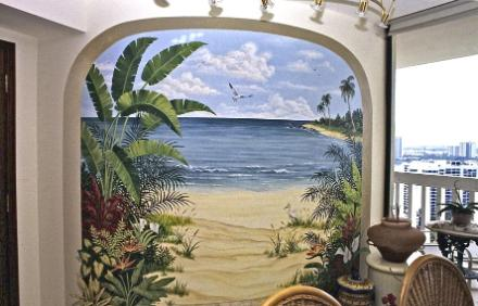 Wish You Had A View Of The Ocean Outside Your Home? The Effect Can Be  Created For You. Above: A Curved Wall Gives Way To A Painted Archway  Leading To A ... Part 97