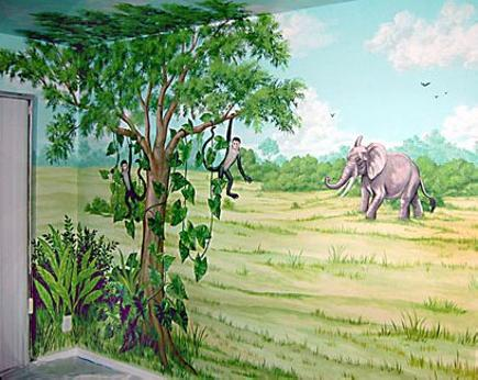 Mural for Kids, Animal Theme - Mural Mural On The Wall, Inc.