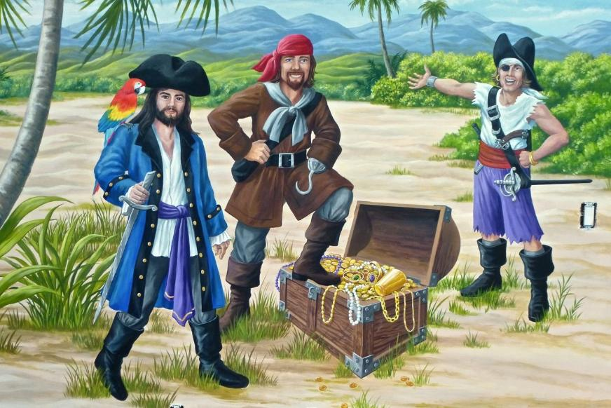 Detail - Pirates with Treasure Mural, Mural Mural On the Wall, Inc.
