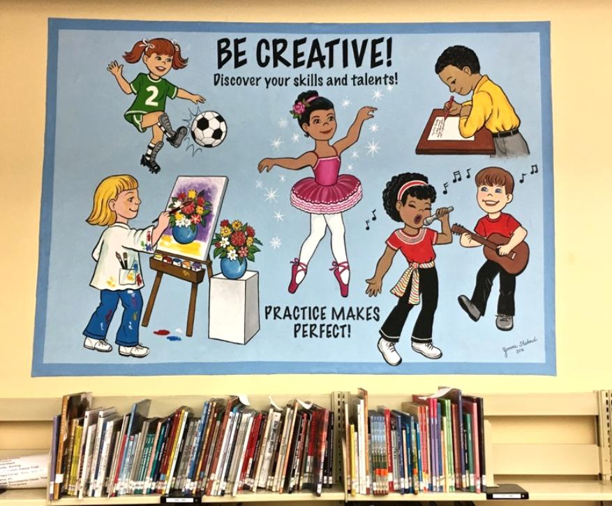 School Mural Promoting Creativity, Mural Mural On The Wall Inc.