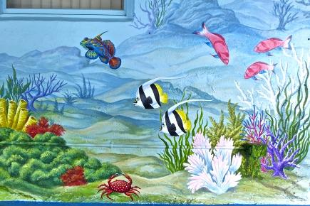Fish Under the Sea Mural,  Mural Mural On The Wall Inc.