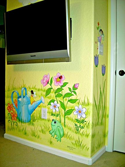 Cartoon Frog and Fairy Children's Mural by Mural Mural On The Wall, Inc.