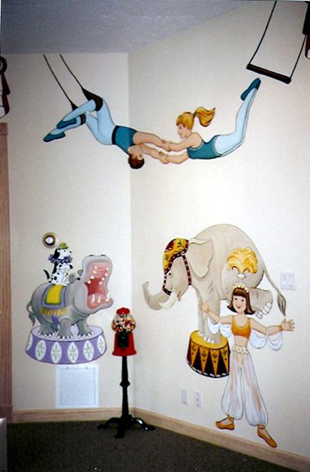 Circus Theme Mural for Children by Mural Mural On The Wall, Inc.