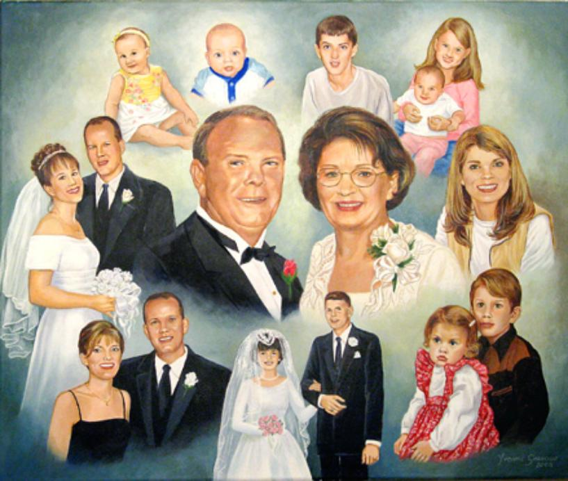 Family Portrait In Oil, Mural Mural On The Wall Inc.