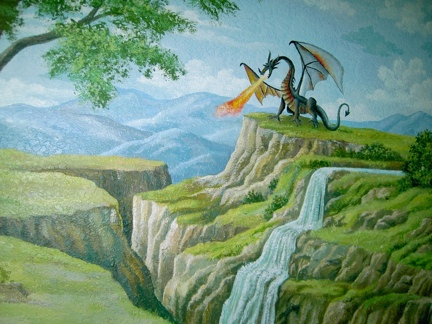 Dragon Mural for kids, by Mural Mural On The Wall, Inc.