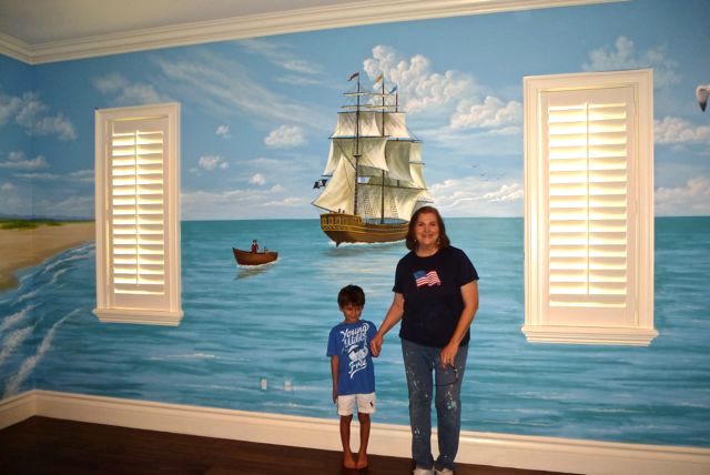 Pirate Ship Mural, Children's Murals, Mural Mural On The Wall, Inc.