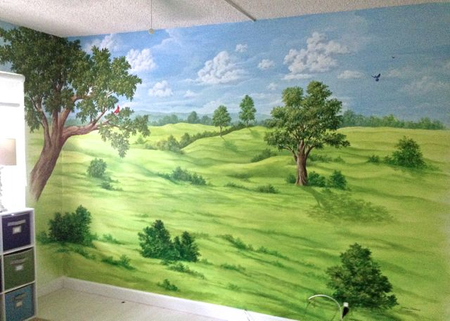 Rolling Hills Mural, Mural Mural On The Wall Inc.