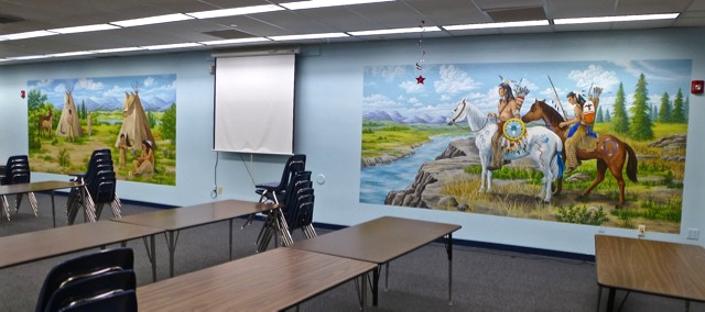 Two School Murals: Native American Theme,  Mural Mural On The Wall, Inc.