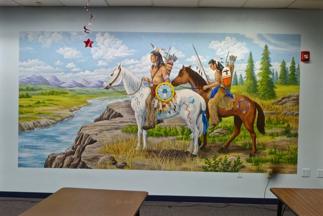 Mural: Native Americans on Horses, Mural Mural On The Wall Inc.