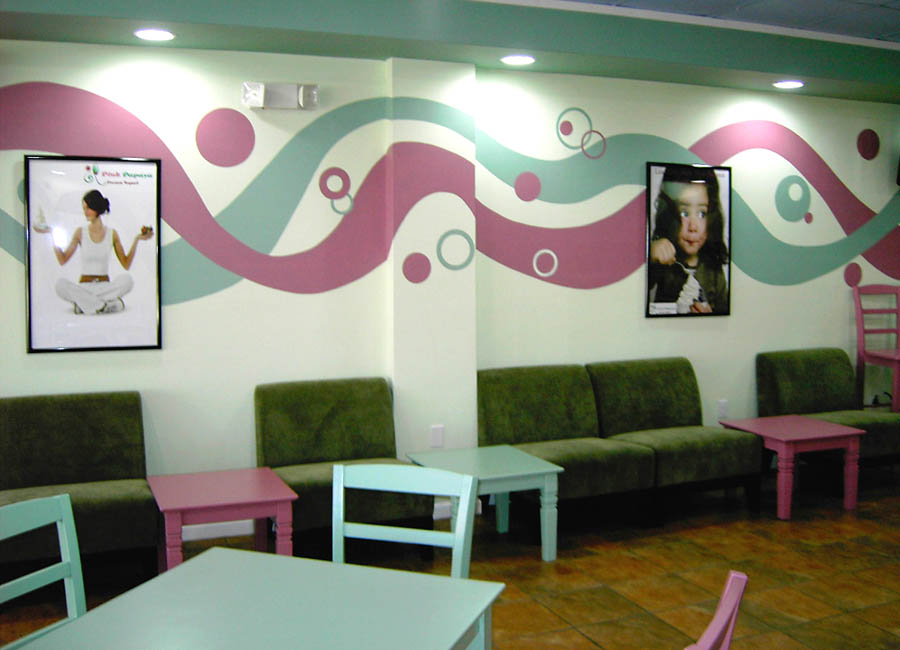 Restauran Mural, Graphic Design Mural