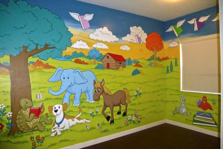 Murals for Children, Storyland Mural, Mural Mural On The Wall, Inc.