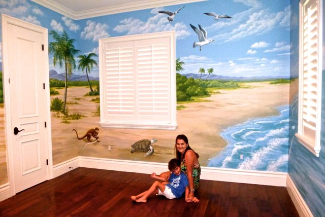 Beach Scene Mural, Mural Mural On The Wall, Inc.