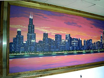 Chicago Skyline Mural, Mural Mural On The Wall, Inc.