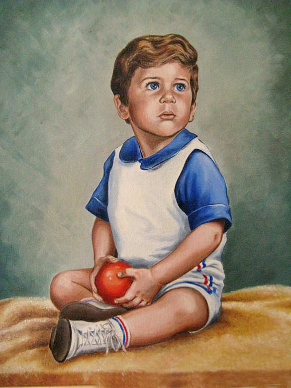 Oil Portraits of Children, Mural Mural On The Wall Inc.