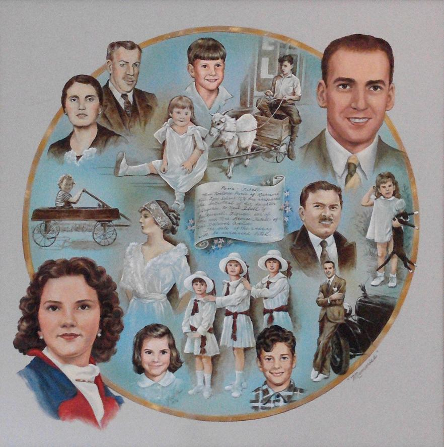 Family History Portrait, Genealogy Portrait, Mural Mural On The Wall Inc.