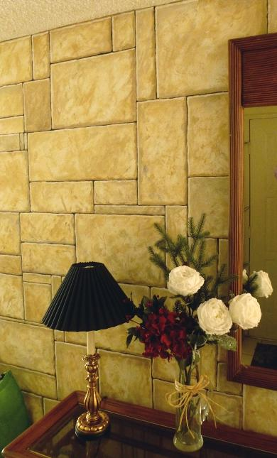 Faux Finish: Stone Wall Effect, Mural Mural On The Wall Inc.