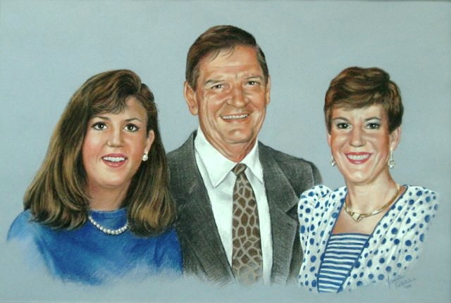 Family Portrait in Pastel, Mural Mural On The Wall Inc.
