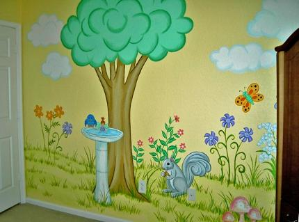 Mural for Child's room by Mural Mural On The Wall, Inc.
