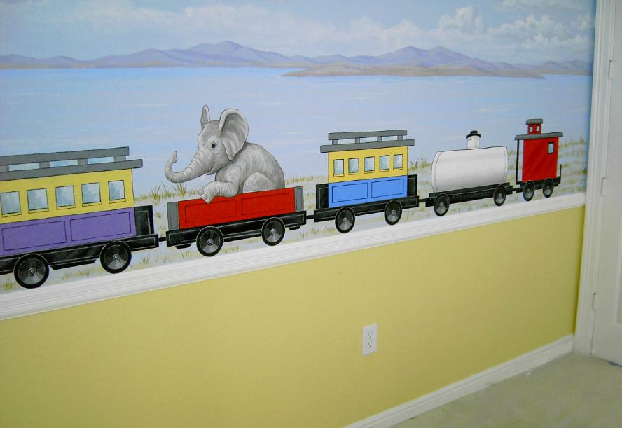 Murals for Children, Train mural