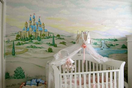 Castle Mural, Baby's Nursery Mural, Mural Mural On The Wall, Inc.