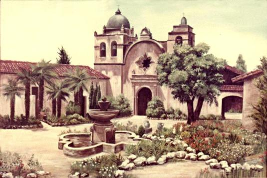 Oil Painting - Spanish Monastery - Mural Mural On The Wall, Inc.