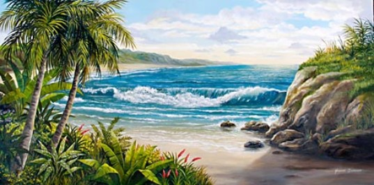 Tropical Island Mural, Beach Scene Mural, Mural Mural On The Wall, Inc.